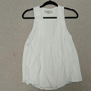White Loft sleeveless blouse